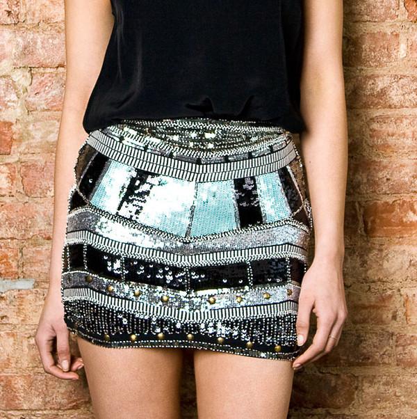 skirt sequin skirt beaded skirt tribal skirt tribal aztec skirt aztec sequin skirt ici fashion icifashion party skirt sparkle party