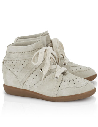 sneakers suede wedge sneakers white