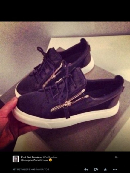 black shoes leather black perfecto sneakers