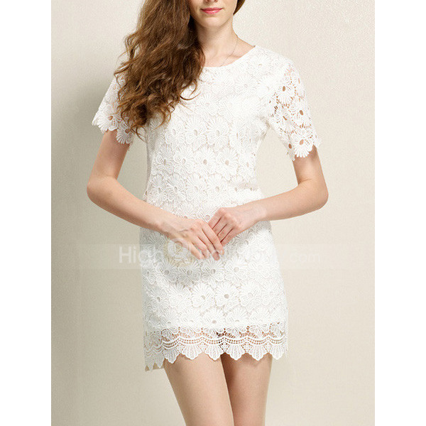 lace dress scoop neck