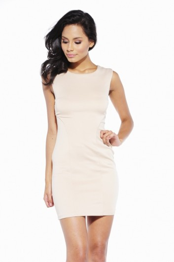 Scuba fitted backless dress