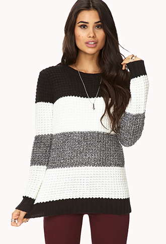 Menswear-Inspired Striped Sweater | FOREVER21 - 2076522899