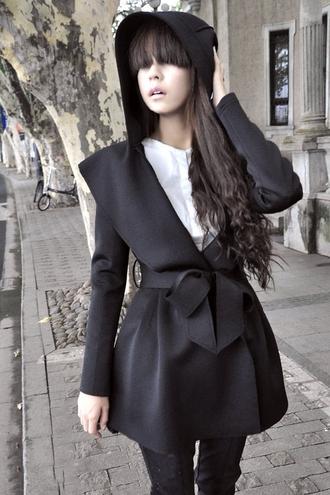 coat zaful hoodie dark
