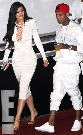 lace up white dress kylie jenner sandals plunge dress shoes celebrities in white urban menswear
