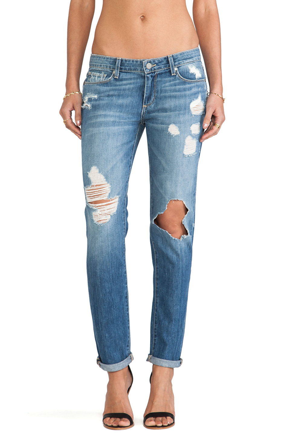 Paige Denim Jimmy Jimmy Skinny in Clifton Destructed | REVOLVE