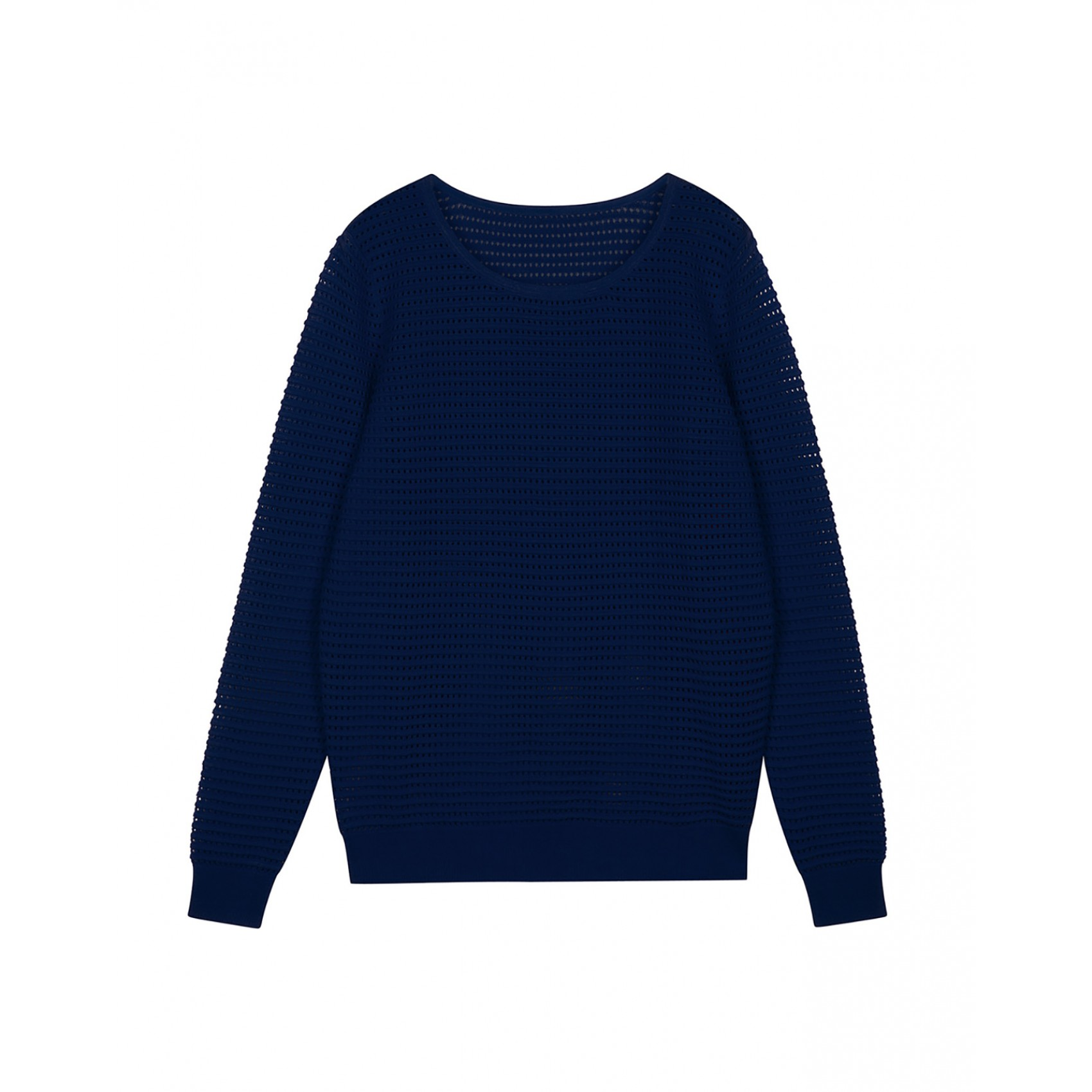 Sandro superbe perforated sweater at sandro us