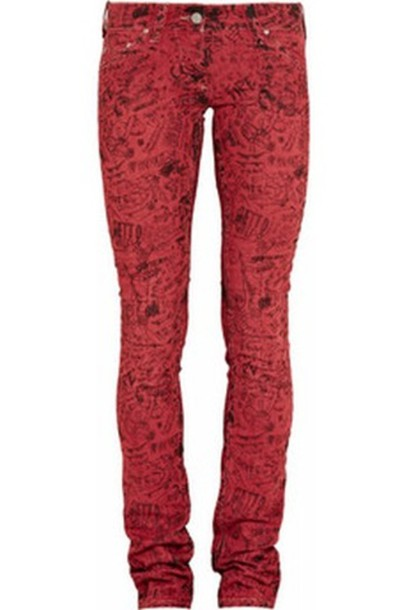 skinny/red red jeans black jeans jeans