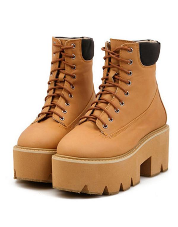 timberland platform heels