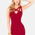 X Appeal Wine Red Bodycon Dress - InStores