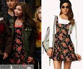 jumpsuit,girl meets world,floral overalls,dress,black,floral dress,rowan blanchard