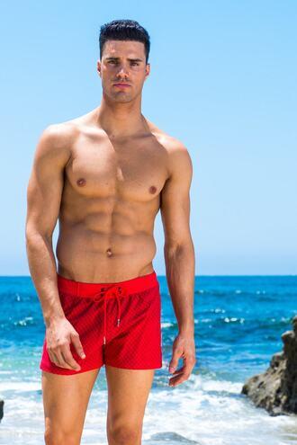 swimwear red sauvage mens swimwear bikiniluxe