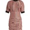 Milton checked ruched poplin dress