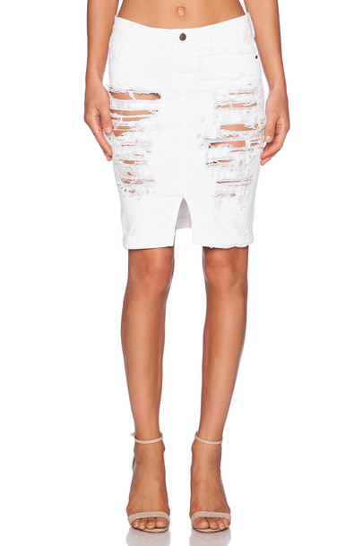 ACQUAVERDE skirt pencil skirt denim white