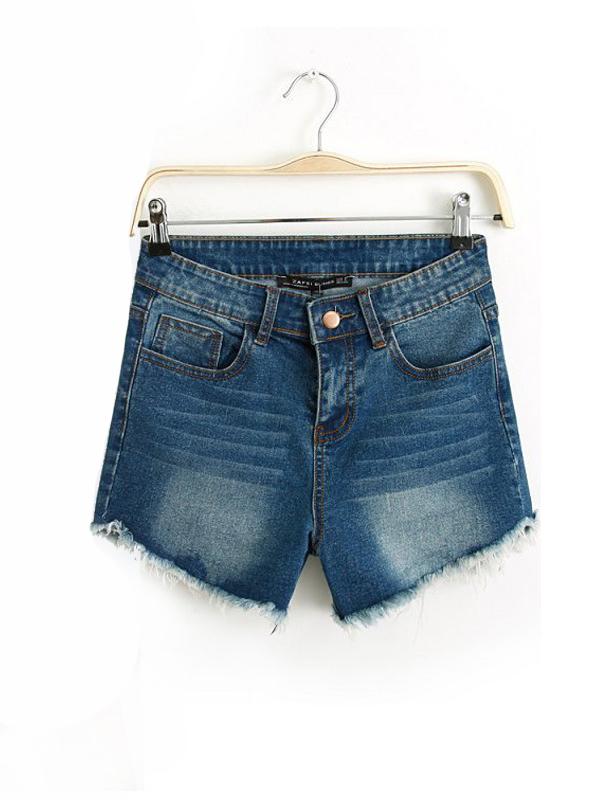 Casual Straight Street Natural Denim Shorts : KissChic.com