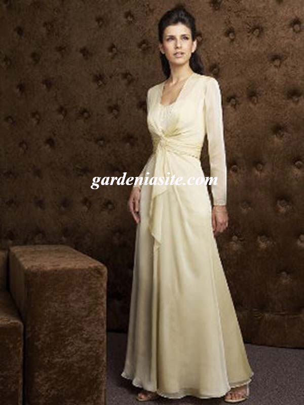 Sweetheart Chiffon A-line Floor-length Dress(AUSTWPMB0066) - Gardeniasite