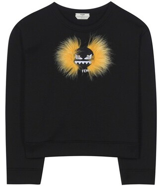 sweatshirt fur cotton black sweater
