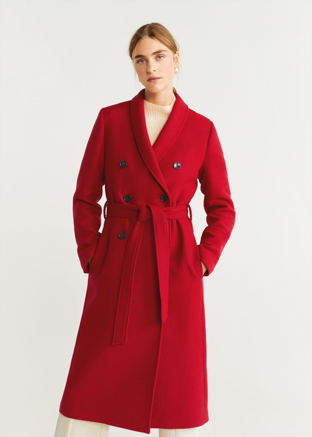 Double-breasted wool coat - Women | Mango United Kingdom