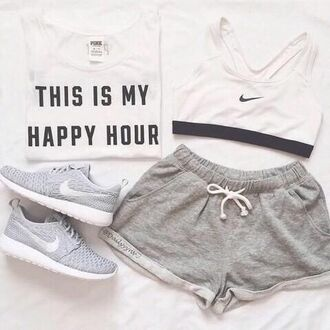 shorts nike sports bra sportswear nike running shoes nike shoes top