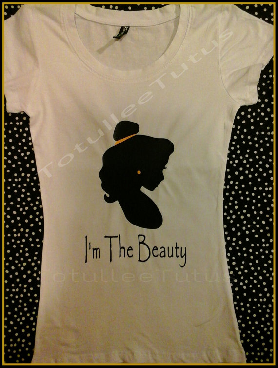 Disney inspired belle/beauty tshirt super by totulleetutus on etsy