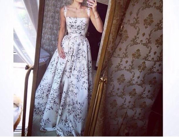 dress formal vintage floral