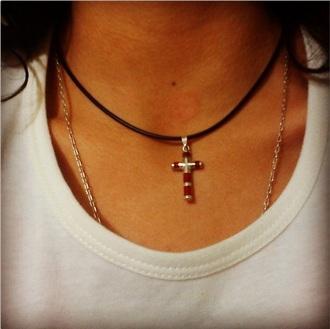 necklace choker cross chokercross neck cross choker necklace belt