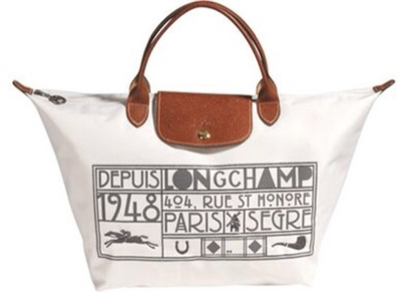 bag longchamp white 2008 limited edition