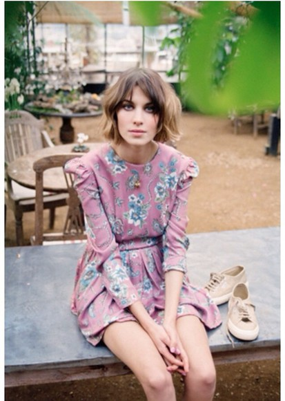 dress model alexa chung vintage
