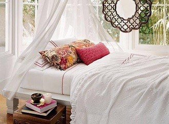 home accessory cover duvet white red stripe bedding bedroom