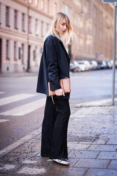 chaloth blogger coat top bag pants shoes