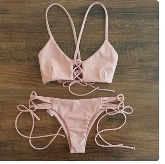 swimwear bikini strappy bikini sexy bikini tumblr bikini pink bikini