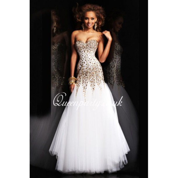 Collection White Mermaid Prom Dresses Pictures - Asatan