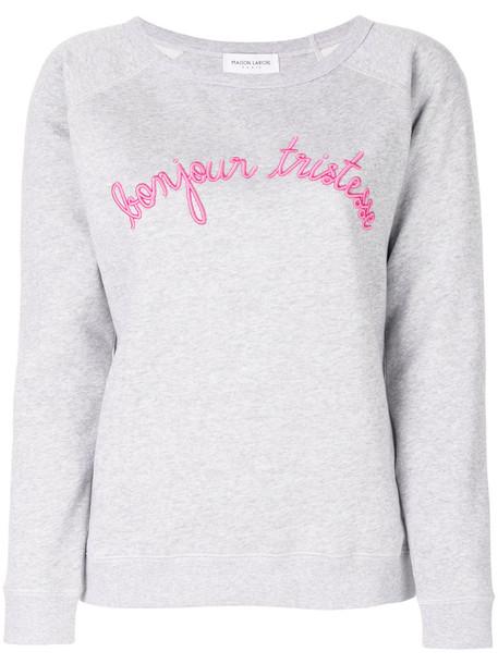 Maison Labiche sweatshirt women cotton grey sweater