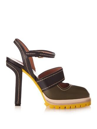 pumps green shoes