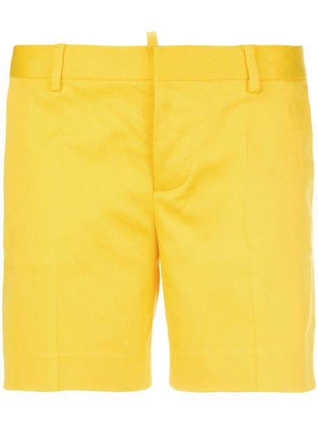 Dsquared2 shorts women spandex cotton yellow orange