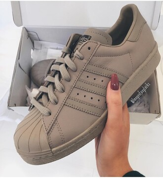sneakers shoes adidas adidas shoes adidas superstars superstar beige sneakers tan sneakers