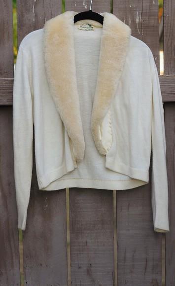faux fur faux fur sweater sweater vintage faux fur coat vintage sweater 1940s