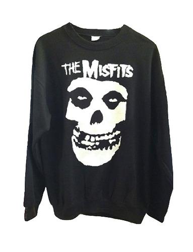 Misfits Skull Unisex L/S Organic French Terry Sweatshirt