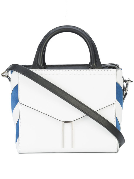 Hayward satchel mini women leather white suede bag