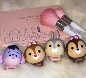 make-up,lip gloss,lips,glow in the dark,lip balm,kawaii,cute,tumblr,soft grunge,girly,pink,makeup palette,makeup brushes,contouring