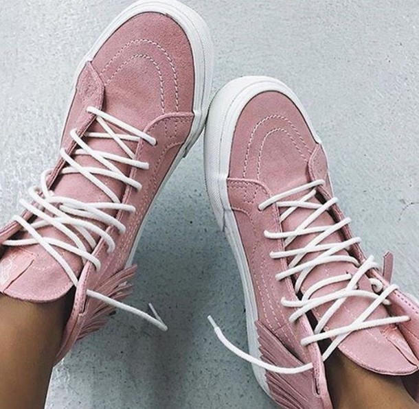 shoes sneakers pink pastel blush converse nike tumblr cute girly girl shoes  blush pink vans tumblr