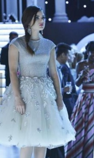 dress pretty little liars aria montgomery tulle dress