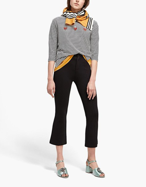 t-shirt shirt striped t-shirt t-shirt black top