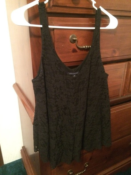 tank top lace top black shirt