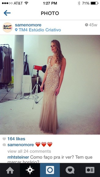 dress prom prom dress nude sequin dress tan dress sparkly dress