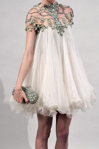 dress white stone dress white dress gemstone beautiful flowy boho boho dress