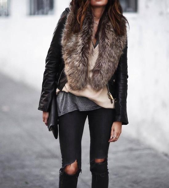 leather jacket outfit tumblr wwwpixsharkcom images