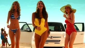 swimwear monokini cut-out strapless yellow bandeau swimsuit bandeau tie back keyhole