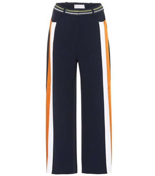 Peter Pilotto cropped blue pants