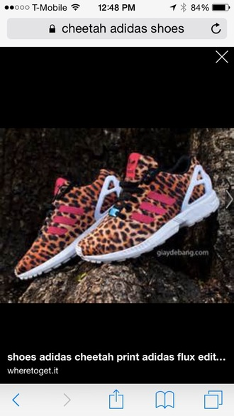 adidas zx flux rose léopard