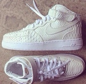 shoes,beautiful,nike air force 1,leather,white,sneakers,nike,nike air,shorts,snake print,creme,sneaks,nike air force,high,air max,snake skin,hi-top,classic,nike air force one 424,424,dope,rap,high top sneakers,scale print,force,snake,nikes,cuteshoes,nike air max 90,sneakers air force 1 snake,fashion,style,nike white,nikuptowns,nike sneakers,white sneakers,off-white,scales,velcro,nike high tops,texture,amazing,limitededition,teenagers,sneakers white,dress,white croc